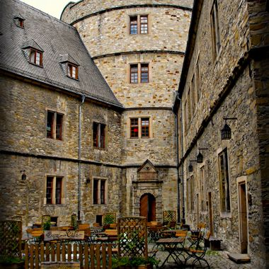 The courtyard at Wewelsburg Castle in Germany.