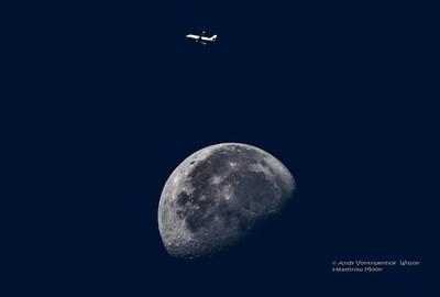 Moon over London Heathrow