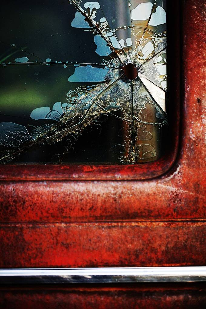 The rural roads of ND have plenty of old cars and trucks sitting in fields rusting away.  Its very hard to find one without numerous bullet holes.