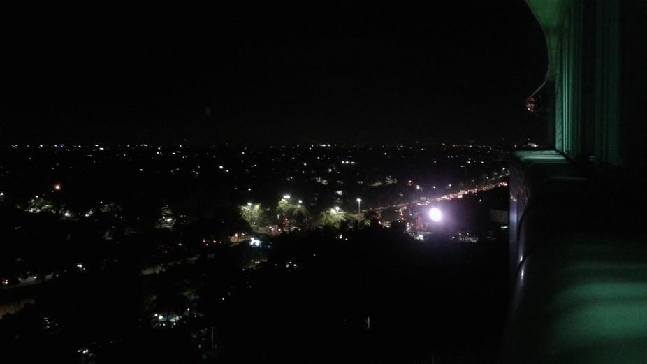 Landscape of the night city