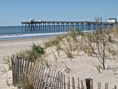 Fishing Pier with Dunes