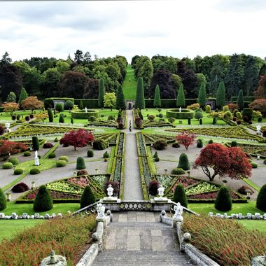 Amazing formal garden.... view from a high vantage point from the castle steps