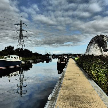 Canal and Kelpies