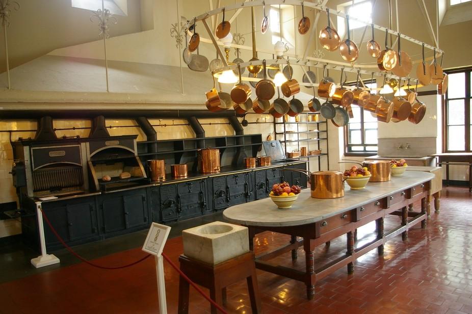 The kitchen in the Vanderbilt Mansion, Breakers, in Newport, RI