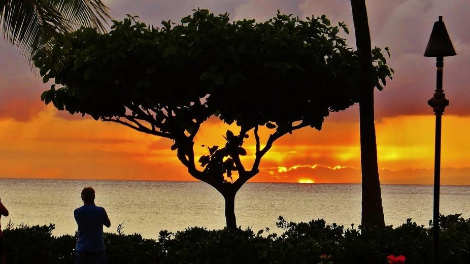 Sunset on Maui.