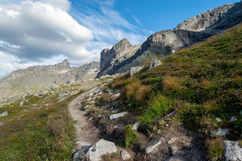 Trail to Skamtiden, near Tromsø, Norway.