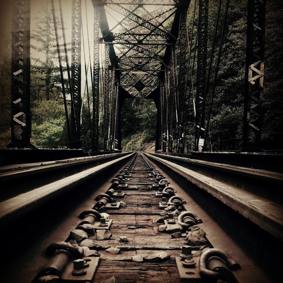 Dunsmuir California railroad track by Californiagrown79 - Empty Railways Photo Contest