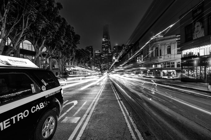 TransAmerica Traffic by jaredweaver - City Life In Black And White Photo Contest