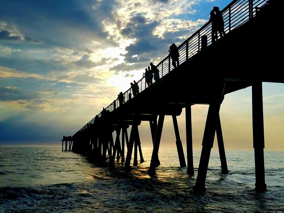 Hermosa Pier, CA at Sunset