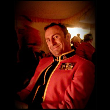 One of the lads in Mess Dress.