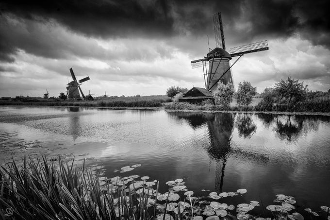 Kinderdijk Mills  by slydeshaies - Monthly Pro Vol 35 Photo Contest