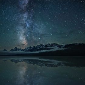 Milky way over the tetons!