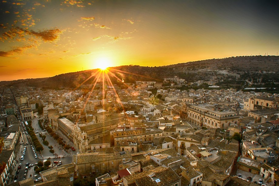 Sunset over Scicli,Sicily
