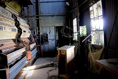Abandoned work room