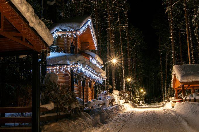 christmas night by DmitriiChemerik - Holiday Lights Photo Contest 2017