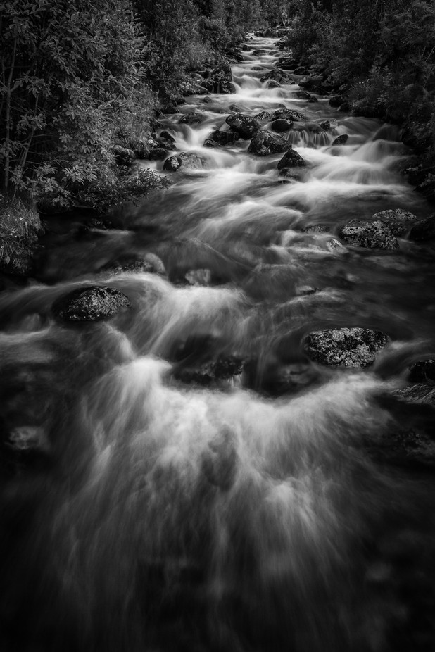Norwegian creek by AESTRACT - The Water In Black And White Photo Contest