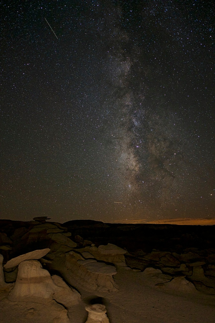 A nightcap in the Bisti wilderness