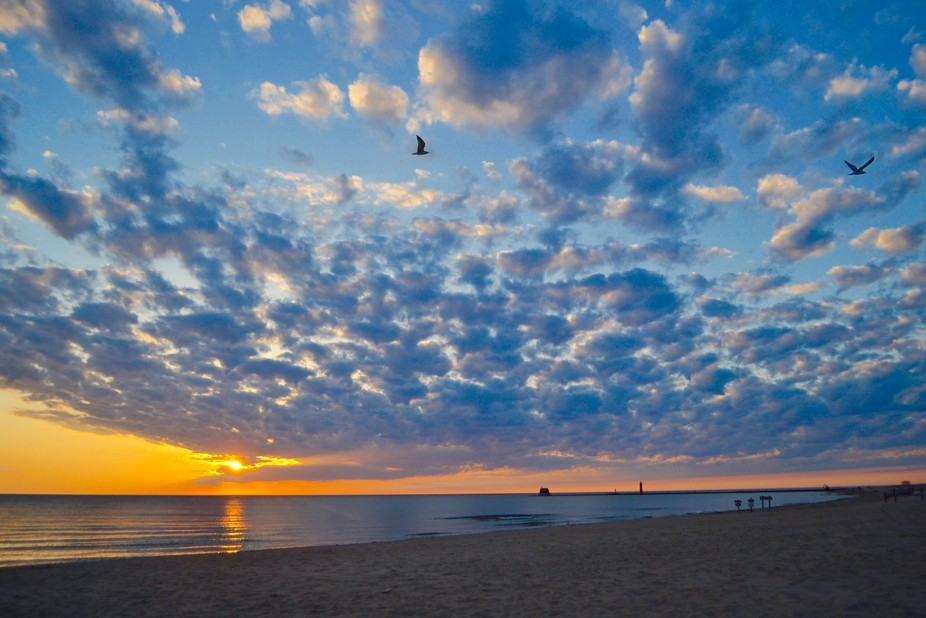 My first sunset photo session at Grand Haven Beach.