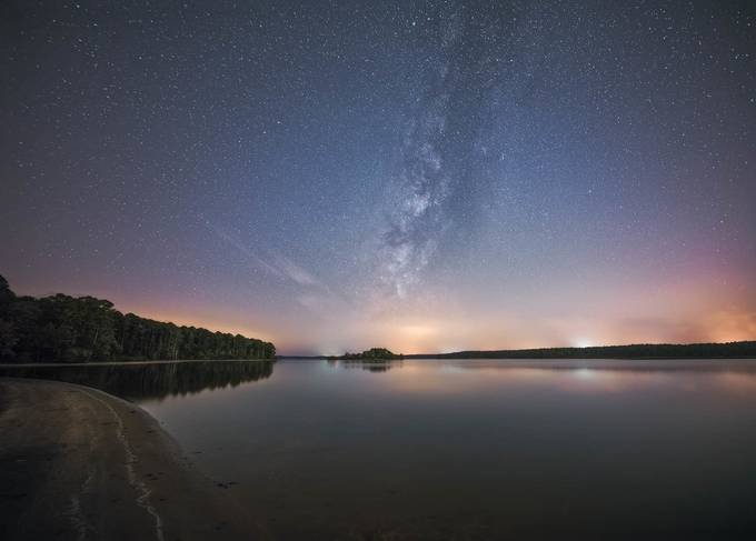 Jordan Lake Glow by ryanshanahan - Capture The Milky Way Photo Contest