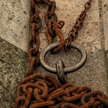 Mooring chains at Conwy Harbour.
