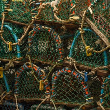 On the Quayside at Conwy was a stack of lobster pots ... the coloured hoops were just to good to waste.