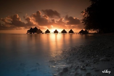 Sunset in Polynesia
