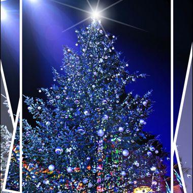 Xmas tree at winter wonderland in London.