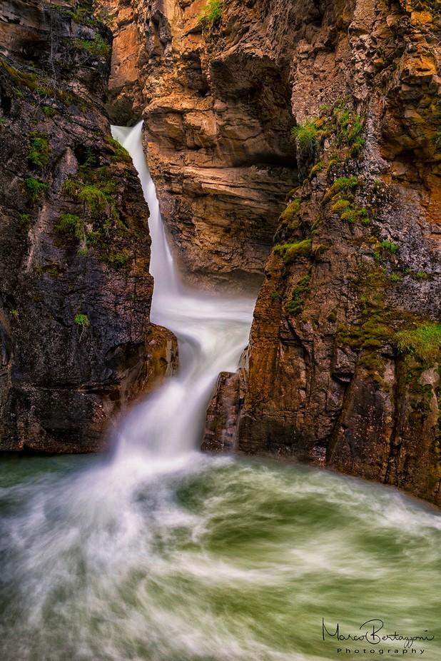 Johnston Canyon Lower Falls, Banff - Canada by marcobertazzoni - Spectacular Cliffs Photo Contest