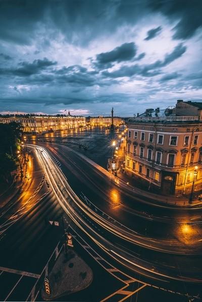 Rooftop night.