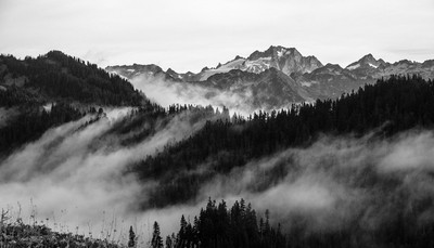 Morning after a rainy night in Washington somewhere between Stevens Pass and Stehekin...