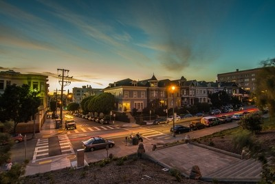 Alamo Square, Scott St steps 9-21-17