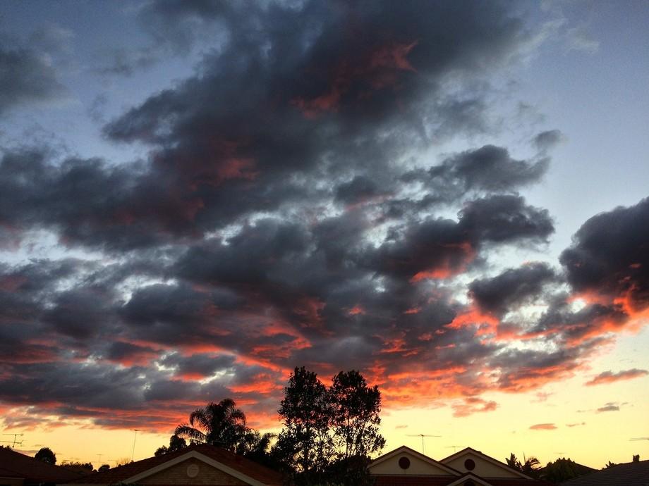 Suburban sunset.