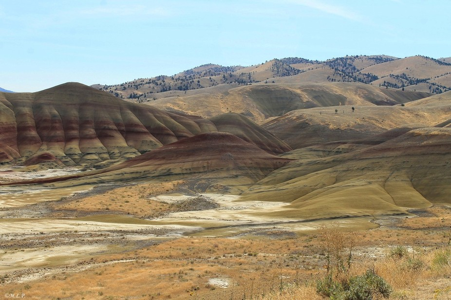 The beautiful Painted Hills in Mitchell Oregon.
