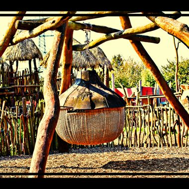 Play park swing at Osnabrück Zoo.