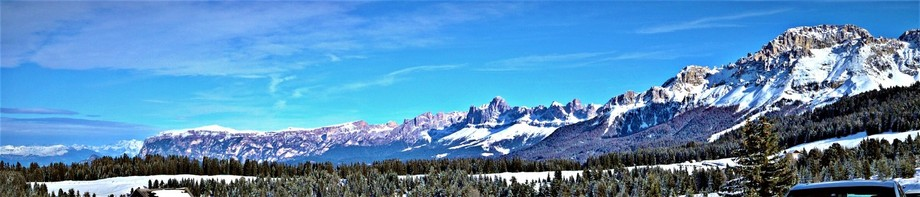 My home, the Dolomites. South Tyrol, Italy in winter.