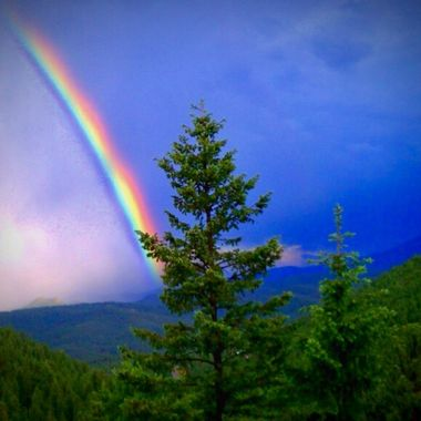 Magical rainbow colors at 8,500 feet in the Colorado mountains!