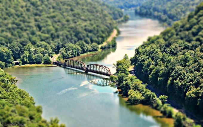 CSX Railway Bridge over New River by causettadawn - TiltShift Effect Photo Contest