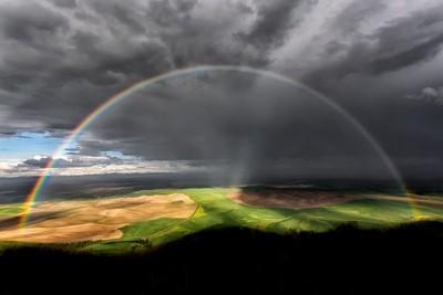 Thunderstorm With Full Arc Rainbow