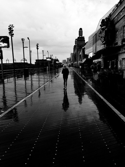 A dreary day in Atlantic City