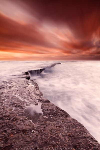 The edge of earth