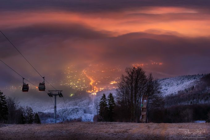After the sunset by saintek - Fog And City Photo Contest