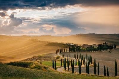 Tuscany in rain