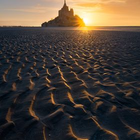 Image taken during the sunset near the Mont Saint Michel in France.