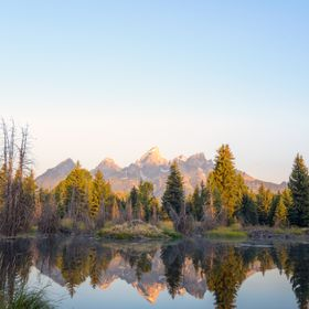 The iconic location in the Grand Teton National Park for photographers. The beauty of the reflection of the mountains during sunrise is mesmerizing.