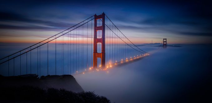 Golden Gate Fog by Wendy_Caine - Fog And City Photo Contest