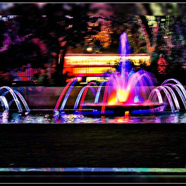 Fountain by Marble Arch in London.