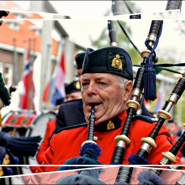 Piper on parade in Holland.