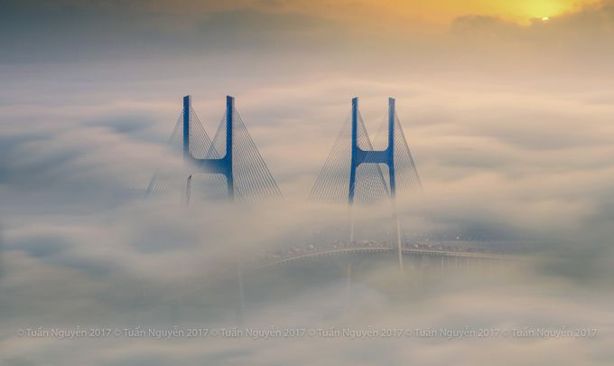 Phu My bridge  by tunnguyn - Fog And City Photo Contest