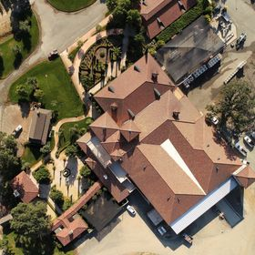 Overhead view of Brassfield Winery, Lake County, CA