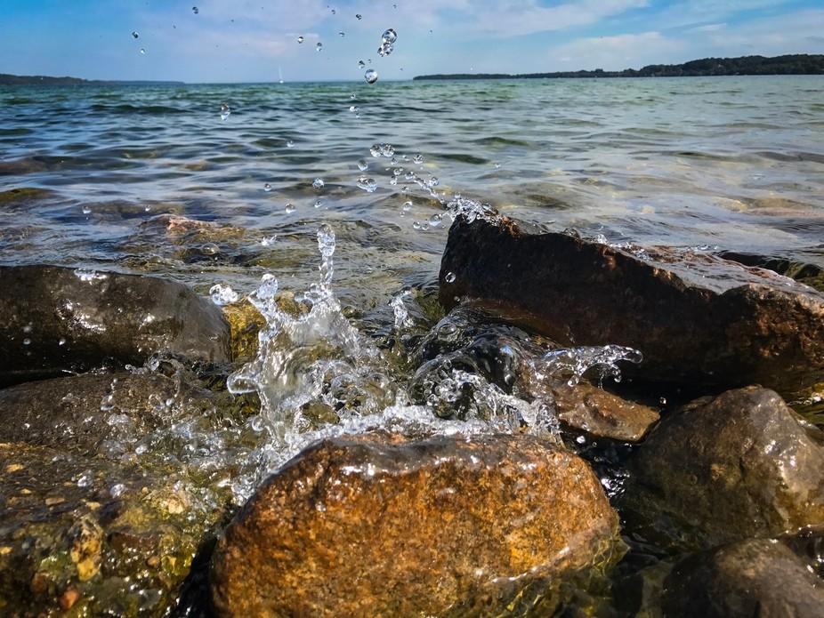 Splashing water at Suttons Bay.